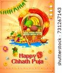 illustration of happy chhath...   Shutterstock .eps vector #731267143