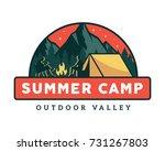 vintage wildlife summer camp...   Shutterstock .eps vector #731267803