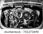 vintage car | Shutterstock . vector #731272690