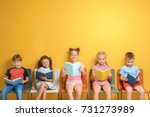 Cute little children reading...