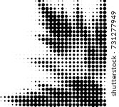 grunge halftone black and white ... | Shutterstock . vector #731277949