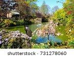 bird statue on the edge of the...   Shutterstock . vector #731278060