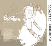 basketball player in action... | Shutterstock .eps vector #731279770
