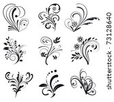set of floral design elements....