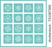 flower vector objects. | Shutterstock .eps vector #731287300