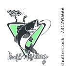 bass fishing | Shutterstock .eps vector #731290666