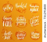 vector thanksgiving lettering... | Shutterstock .eps vector #731291800