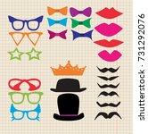 a sheet of a notebook  a... | Shutterstock .eps vector #731292076