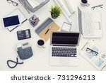 business table in the office | Shutterstock . vector #731296213