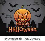 happy halloween theme background | Shutterstock .eps vector #731299699