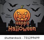 happy halloween theme background   Shutterstock .eps vector #731299699