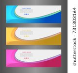 set three colorful abstract... | Shutterstock .eps vector #731303164