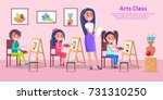 arts class poster with teacher... | Shutterstock .eps vector #731310250