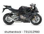 black motorcycle   Shutterstock . vector #731312980