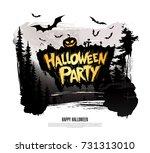 halloween party. vector... | Shutterstock .eps vector #731313010