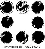 grunge post stamps collection ... | Shutterstock .eps vector #731313148