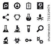 16 vector icon set   search... | Shutterstock .eps vector #731314474