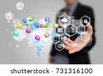 social media concept. | Shutterstock . vector #731316100