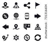 16 vector icon set   pointer ... | Shutterstock .eps vector #731316604