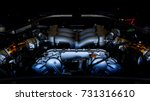 engine inside super car  super... | Shutterstock . vector #731316610