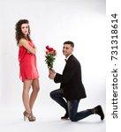 elegant couple problem solving... | Shutterstock . vector #731318614