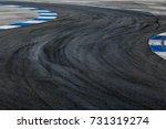 tire mark  skid mark at motor... | Shutterstock . vector #731319274