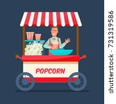 concept of street trading.... | Shutterstock .eps vector #731319586