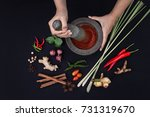 the art of thai cuisine   thai... | Shutterstock . vector #731319670