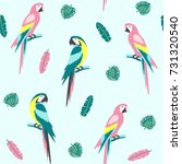 tropical seamless pattern with... | Shutterstock .eps vector #731320540