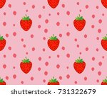 seamless strawberry pattern on... | Shutterstock .eps vector #731322679