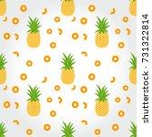 pineapple seamless pattern.... | Shutterstock .eps vector #731322814
