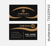 black and gold business card... | Shutterstock .eps vector #731325910