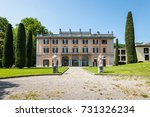 Small photo of Como, Italy - May 27, 2016: View of Villa Gallia in the lakefront of Como City, Italy.