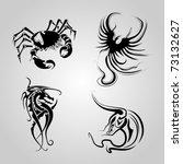 animal tattoo vector   Shutterstock .eps vector #73132627