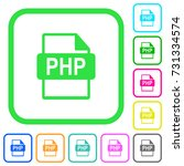 php file format vivid colored... | Shutterstock .eps vector #731334574