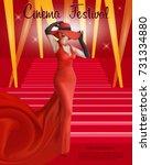 cinema festival poster.  | Shutterstock .eps vector #731334880