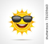 sun with sunglasses. vector ... | Shutterstock .eps vector #731335663