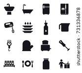 16 vector icon set   bath ... | Shutterstock .eps vector #731336878