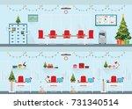 modern interior of christmas... | Shutterstock .eps vector #731340514