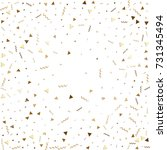 glitter gold confetti. isolated ... | Shutterstock .eps vector #731345494