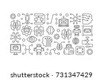 cyberbrain and artificial... | Shutterstock .eps vector #731347429