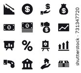16 vector icon set   crisis ... | Shutterstock .eps vector #731347720