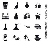 16 vector icon set   uv cream ... | Shutterstock .eps vector #731347738