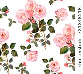 seamless floral pattern in... | Shutterstock . vector #731348518