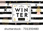 winter shopping sale flyer... | Shutterstock .eps vector #731350480
