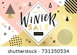 winter shopping sale flyer... | Shutterstock .eps vector #731350534