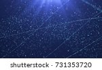 winter particles background.... | Shutterstock . vector #731353720
