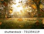 falling autumn leaves | Shutterstock . vector #731354119
