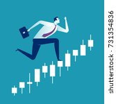 running for finance success.... | Shutterstock .eps vector #731354836