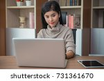young businesswoman or... | Shutterstock . vector #731361670